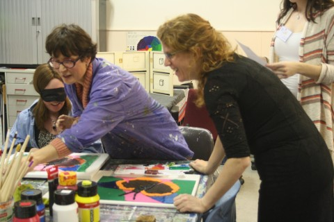 Impressie Taktila schilderworkshop bij Studio Xplo in Tilburg