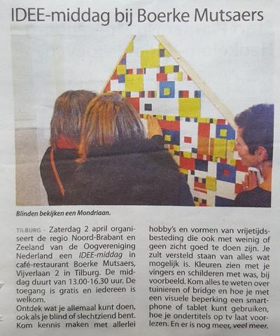 De Taktila Mondriaan was te zien tijdens Ideemiddag oogvereniging