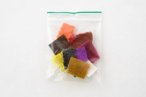 Zakje met stickers van alle 15 Taktila kleuren, 1 sticker per kleur