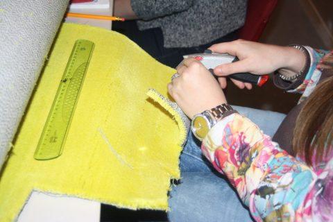 Impressie werken in Taktila Atelier