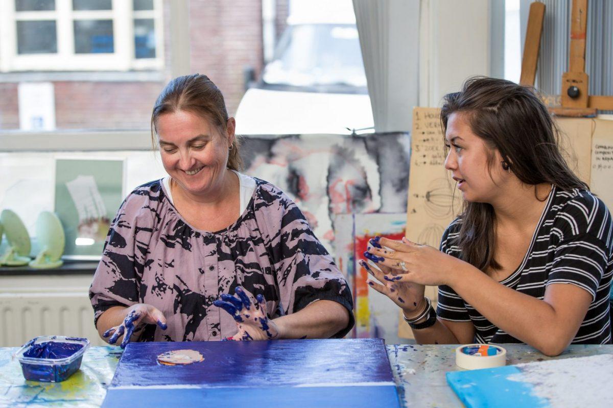 Schildercursussen voor mensen met een visuele beperking
