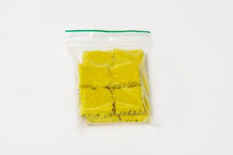 Taktila stickers geel, per 10 verpakt