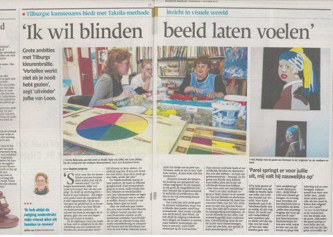 Taktila in Brabants Dagblad 2015