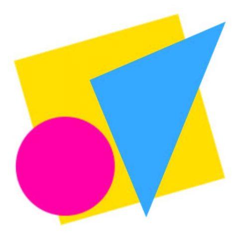 Gekleurde vormen Taktila logo