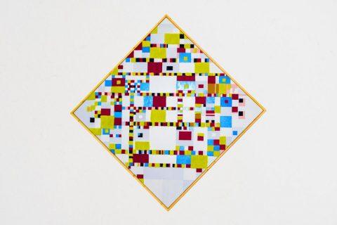 Taktila replica van het schilderij de Victory Boogie Woogie van Piet Mondriaan