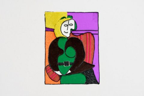 Taktila replica van het schilderij Woman in red armed chair van Picasso