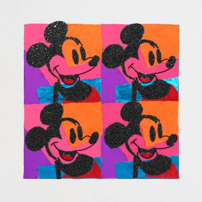 Replica van Andy Warhol, Quadrant Mickey Mouse