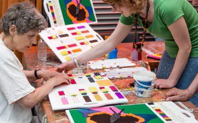 Blind leren kleuren mengen
