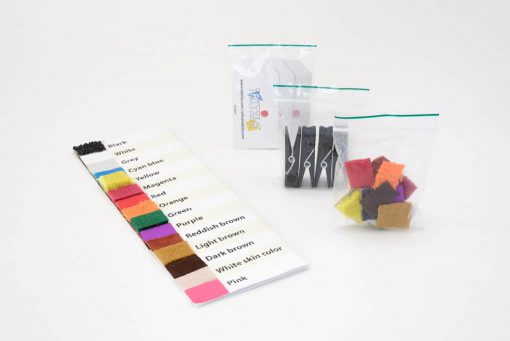 Starters kit with Color chart, stickers, clothespins and labels
